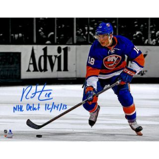 Ryan Strome New York Islanders  Authentic Autographed 11 x 14 Spotlight Photograph with NHL Debut 12/14/13 Inscription   #2 17 of a Limited Edition of 18