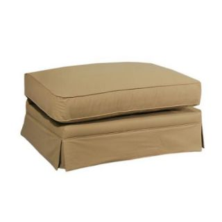 Made To Order Elsa 100 percent Cotton Tan Upholstered Ottoman