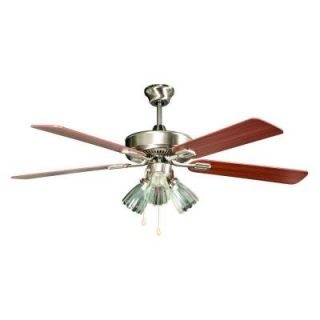 Concord Fans San Marcos Series 52 in. Indoor Stainless Steel Ceiling Fan 52SM5EST