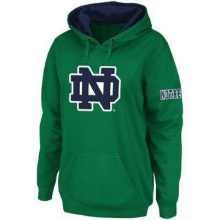 Notre Dame Fighting Irish Stadium Athletic Womens Big Logo Pullover Hoodie   Kelly Green