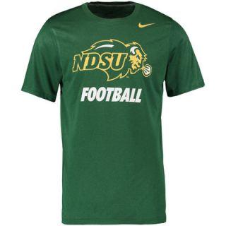 NDSU Bison Nike Legend Logo Performance T Shirt   Kelly Green
