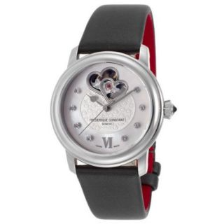 Frederique Constant Women's World Heart Federation Auto Diamonds Grey Satin White Dial Movement: Automatic