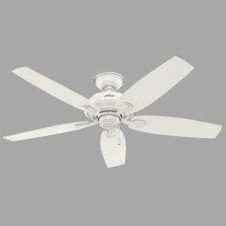 Hunter Channing 52 in. White Ceiling Fan with Light Kit 52072