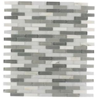 Splashback Tile Cleveland Severn Mini Brick 10 in. x 11 in. x 8 mm Mixed Materials Mosaic Floor and Wall Tile CLEVELAND SEVERN MINI BRICK