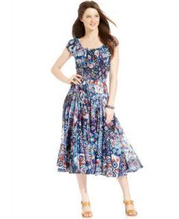 Grace Elements Cap Sleeve Peasant Dress   Dresses   Women