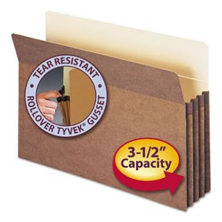 Smead 3 1/2 Accordion Expansion File Pocket, Straight Tab, Legal, Redrope,  50ct.