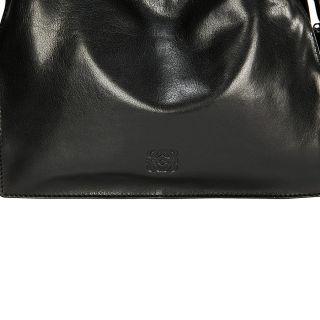 Loewe Flamenco 22 Black Leather Drawstring Handbag Item No. 359.22.H39