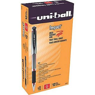 Uni Ball 207 Impact Stick Gel Pen, Bold Point, Red Ink, 12/pk (65802)