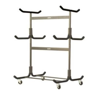 Stoneman Sports Glacik Freestanding Portable 5 Kayak or Canoe Storage Rack with Heavy Duty Caster Wheels Double Sided in Bronze G 535 C4