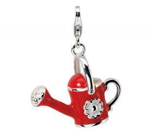 Amore La Vita Sterling Dimensional Red WateringCan Charm —