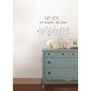 House of Hampton Altimore Dull Your Sparkle Quote Wall Decal