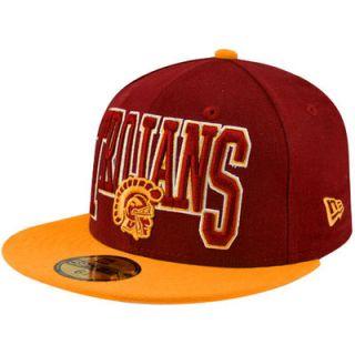 New Era USC Trojans School Spirit 59FIFTY Fitted Hat   Cardinal/Gold