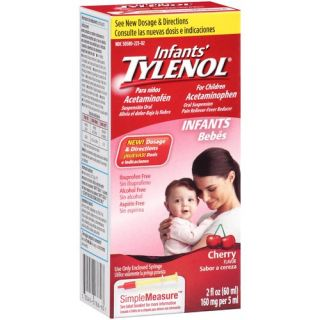 Infants' Tylenol Cherry Flavor Oral Suspension Pain Reliever Fever Reducer, 2 fl oz