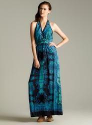 Angie Halter Printed Maxi Dress  ™ Shopping