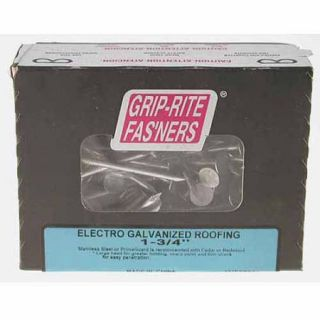 """Prime Source 5 lb Electro Galvanized Roofing Nails, 1"""""""