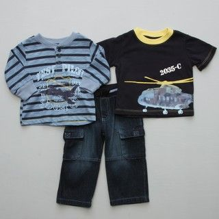 Baby Togs Infant Boys Helicopter 3 Piece Set