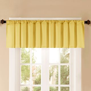 Style Selections 52 in L Thermal Yellow Tailored Valance