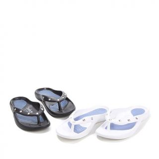 Tony Little Cheeks® Healthy Lifestyle Sandal 2 Pair with Jewels   7972901