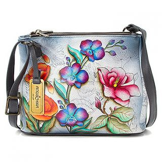 Anuschka Triple Compartment Convertible Tote  Women's   Floral Fantasy