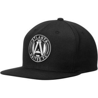 Atlanta United FC Mitchell & Ness Black & White Logo Snapback Adjustable Hat   Black