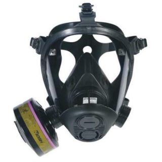 SURVIVAIR 753000 Tactical Gas Mask, Small, 5 pt. Strap