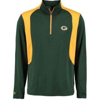 Green Bay Packers Antigua Delta Quarter Zip Pullover Jacket – Green