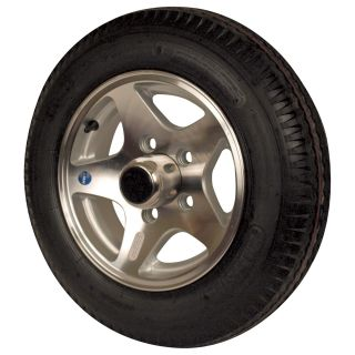 Martin Aluminum Star Mag Trailer Tires and Assembly — 12in. Bias Ply, Model# DM412B-5SM  12in. Aluminum Rims