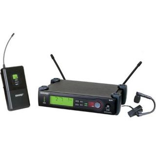 SLX14/BETA98H G5 Shure Shure SLX14/BETA98H G5 SLX Series Wireless Microphone System with Beta 98 Cardioid Instrument Mic, G5 Band (494 518 MHz)