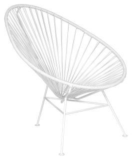 Acapulco Low armchair White / white leg by OK Design pour Sentou Edition