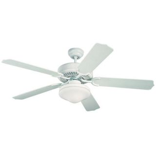 Monte Carlo Fans 5WF52WHD L Weatherford Deluxe 52 Outdoor Fan in White