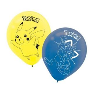 "Pokemon 12"" Latex Balloons (6 Pack)   Party Supplies"