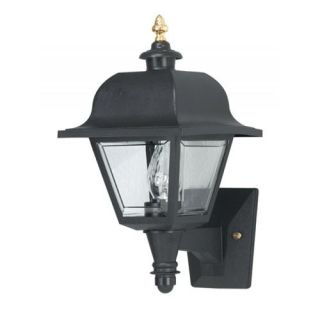 Wave Lighting 408 G18 Saxony 1 Light 18W Wall Mount in Black with Long and Short Tail
