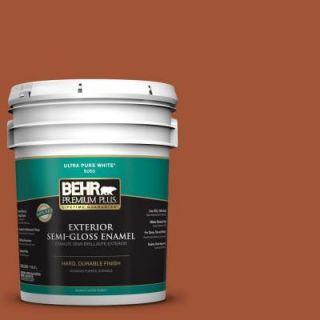 BEHR Premium Plus 5 gal. #S H 230 Ground Nutmeg Semi Gloss Enamel Exterior Paint 534005