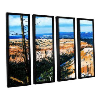 ArtWall Gene Foust Mountain Tops Blue Sky 4 Piece Floater Framed
