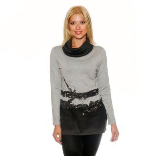 Nancy Yang Multicolor Rhinestone Embellished Sweater Tunic   17944928