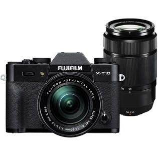 Fujifilm X T10 Camera + 16 50 II + 50 230 XC Lenses + 64GB Card + Case