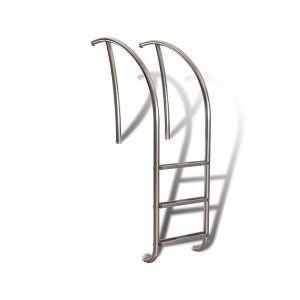 "S.R. Smith ART 1003 MG Pool Ladder, 24"" 3 Step Artisan Series Marine Grade   Polished Steel"