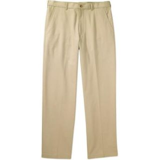 George Men's Flat Front Wrinkle Resistant Pants
