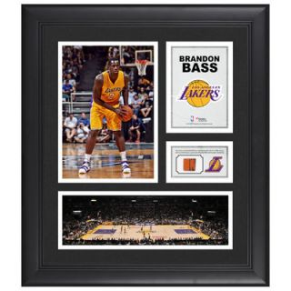 Brandon Bass Los Angeles Lakers  Authentic Framed 15 x 17 Collage with Team Used Ball