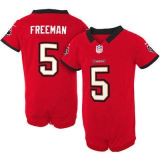 Nike Josh Freeman Tampa Bay Buccaneers Historic Logo Newborn Game Romper Jersey   Red