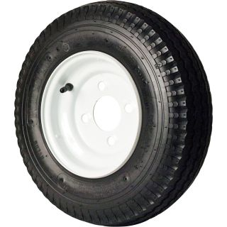 4-Hole High Speed Standard Rim Design Trailer Tire Assembly — 16.5in. x 4.80 x 8  8in. High Speed Trailer Tires   Wheels
