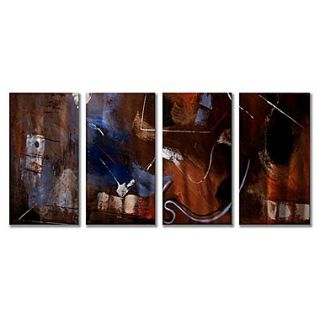 All My Walls Gentle Movement by Ruth Palmer 4 Piece Painting Print Plaque Set