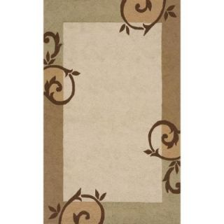 Momeni Terrace Iron Gate Cream 2 ft. x 3 ft. All Weather Patio Accent Rug VR 14 CRM 2 Ft. x 3 Ft.