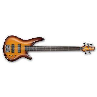 Ibanez SR Standard Series SR375EF 5 String Electric Bass Guitar, Brown Burst SR375EFBBT
