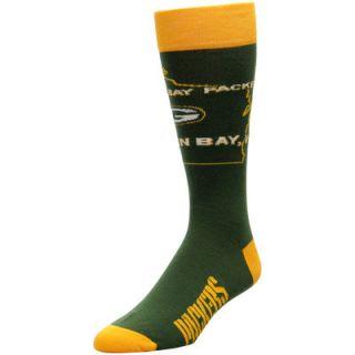 Green Bay Packers For Bare Feet State Outline Socks