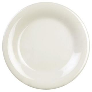 Restaurant Essentials Coleur 5 1/2 in. Wide Rim Plate in Ivory (12 Piece) 849851024304