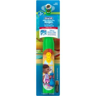 Oral B Pro Health Stages Disney Doc McStuffins Battery Toothbrush for Kids with FREE Disney Magic Timer App