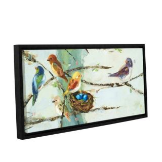 ArtWall Ninalee Iranis Birds In Trees, Gallery Wrapped Floater framed