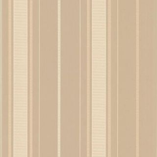 56 sq. ft. Gavin Taupe Stripe Wallpaper DL30487