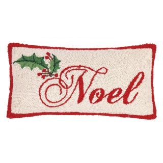 Peking Handicraft Noel Hook Wool Throw Pillow